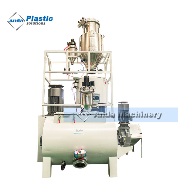 Hot and cooling PVC mixer machine
